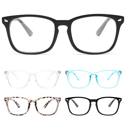 CHEERS DEVICES 5-Pack Reading Glasses Blue Light Blocking, Computer Readers for Women Men Anti Glare UV Filter Eyeglasses