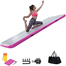 kxbyToy Air Mat Tumble Track 4 inches Thickness Inflatable Gymnastics Mat for Home Use/Training/Cheerleading/Yoga 10/13/16/20ft with Electric Air Pump
