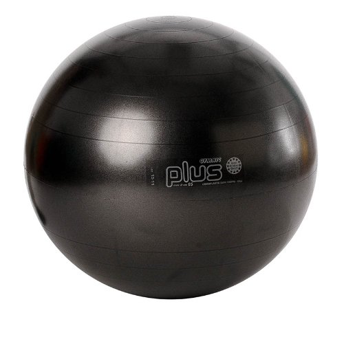 Black Ball, schwarz 65 cm Sitzball Gymnasikball