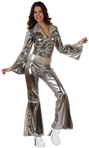 Atosa 10443 - Verkleidung Disco grau-silber Damen Größe 42-44