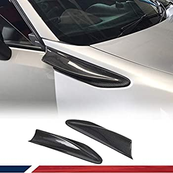 JC SPORTLINE Carbon Fiber Fender Aero Fin Trim fits Subaru BRZ Toyota 86 GT86 Scion FR-S 2012-2019 Aero Fins(2PCS/Set)