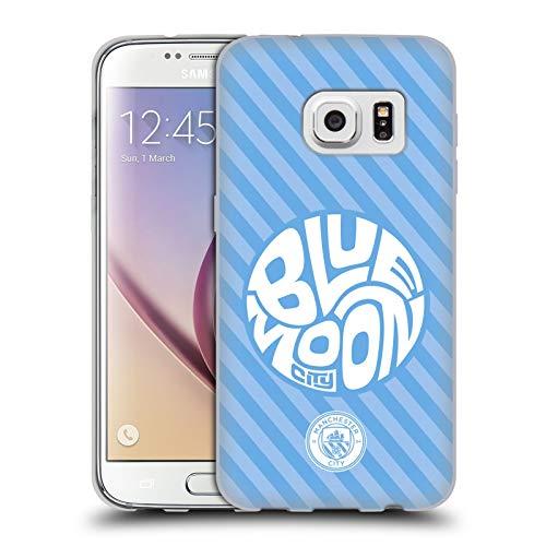 Head Case Designs Licenza Ufficiale Manchester City Man City FC Blue Moon Stripes Pattern Cover in Morbido Gel Compatibile con Samsung Galaxy S7