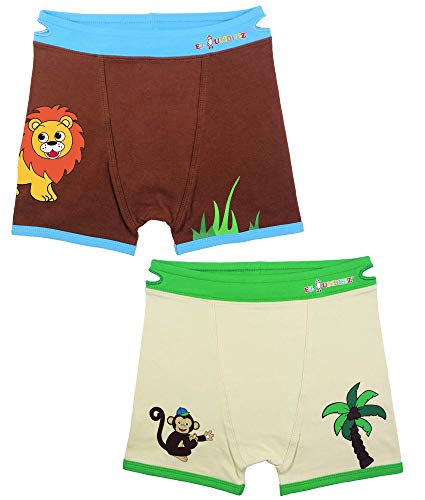 Ez Undeez Toddler Boxers (4-5 Years, Monkey-Lion)