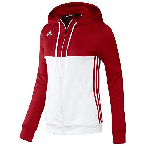 adidas Damen T16 Hoody W, Power Red/White, 2XS