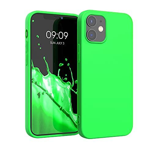 kwmobile Cover Compatibile con Apple iPhone 12/12 PRO - Cover Custodia in Silicone TPU - Backcover Protezione Posteriore - Verde Fluorescente