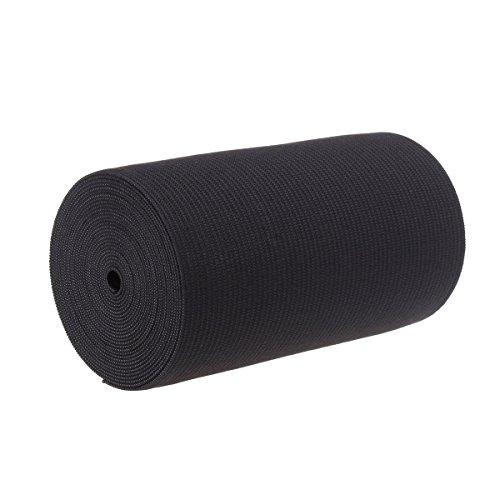 4-Inch Wide Black EXTRA Heavy Knit Stretch ELASTIC 3 Yards by Prolastic