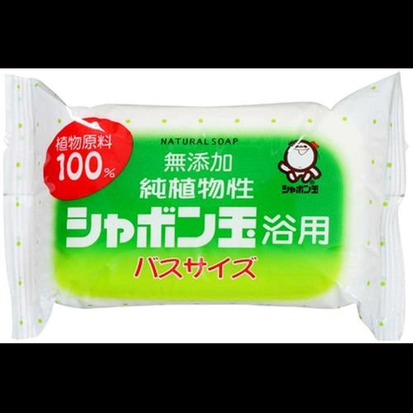 等々不適当用心する【まとめ買い】純植物性シャボン玉 浴用 バスサイズ155g ×2セット