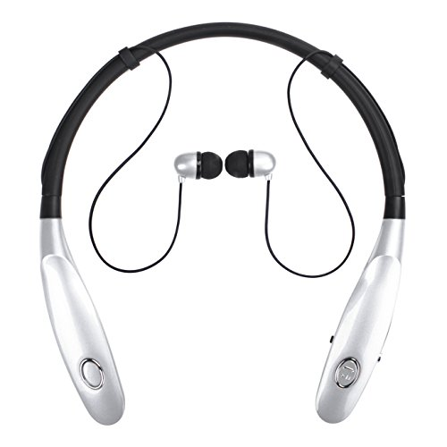 Bluetooth Headphones 14Hr Working Time, Truck Driver Bluetooth Headset, Wireless Magnetic Neckband Earphones, V4.2 Noise Cancelling Earbuds w/Mic, Compatible with Any Bluetooth Equitments