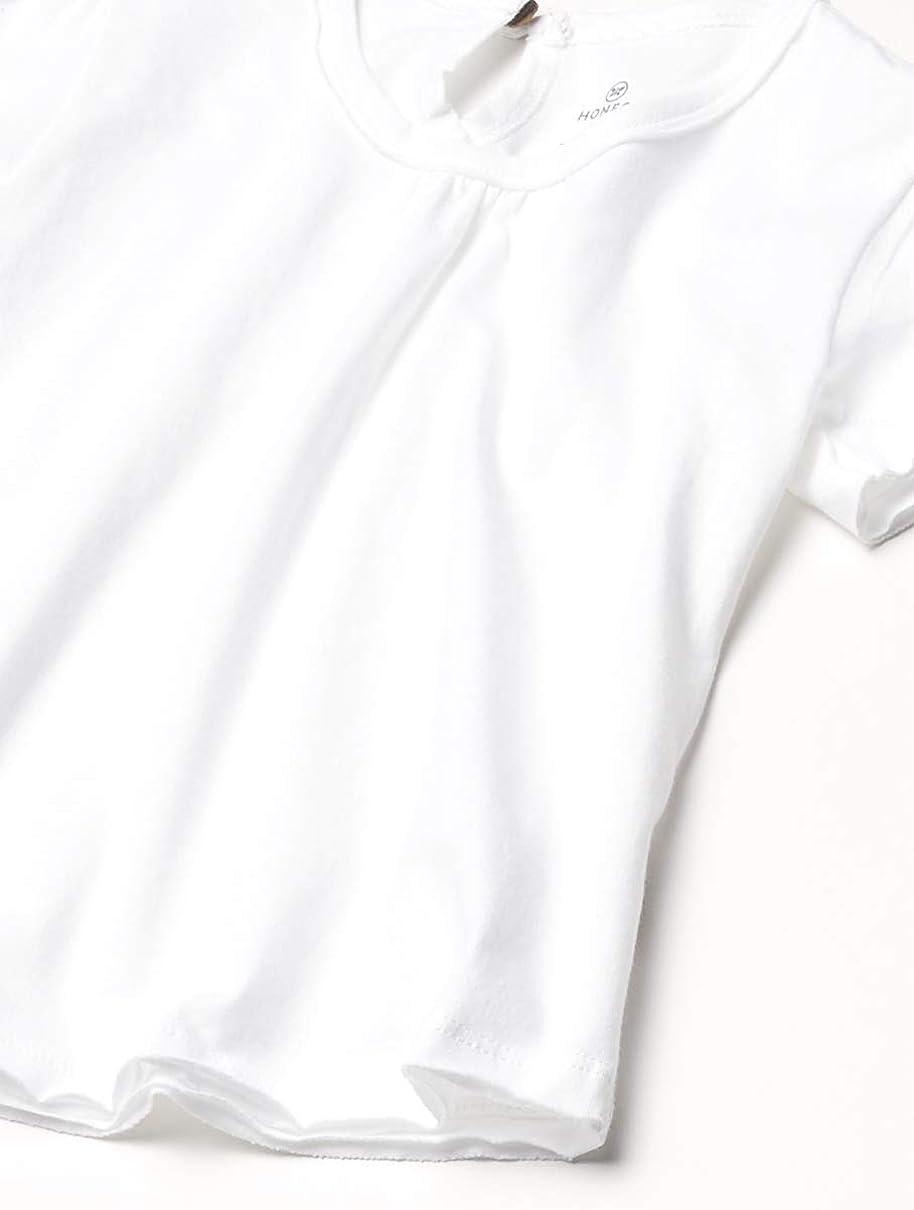 HonestBaby Girls Organic Cotton Puff Sleeve Toddler Tee Shirt Multi-Packs Baby T Set