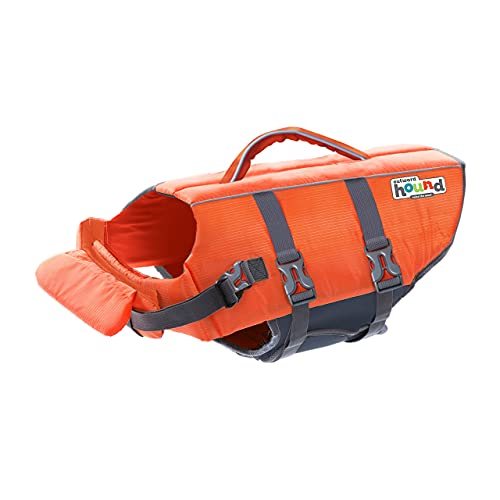 Outward Hound Kyjen 22018 Ripstop Dog Life Jacket Quick Release Easy-Fit Adjustable Dog Life Preserver, Extra Small, Orange