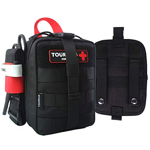 IFAK Med Trauma Kit, Molle Tactical Emergency First Aid Kit Survival Military, Rip-Away Field Dressing Kit con torniquete para acampar, senderismo, Bug Out