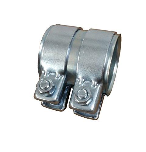 Tubo de escape del conector Diámetro 65mm x80mm galvanizado universal conector + 2x Abrazadera de escape 69,5