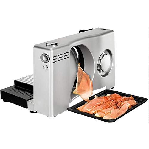 Cortadora de carne congelada, cortadora de carne eléctrica con cuchilla de acero inoxidable, rollo de cordero, carne, cortadora de alimentos, cortadora de alimentos, grosor ajustable de 0 a 15 mm, ide