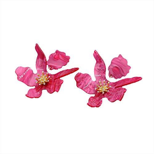 UINGKID Ohrstecker Mode Einfache Stilvolle AttraktiveMode Frauen Blume geformt Harz Tropfen baumeln Ohrstecker Ohrringe Schmuck