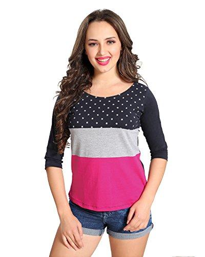 AV2 Women's Cotton Top (8006BL, Pink, Large)