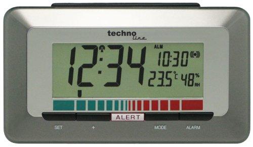 Technoline Luftgütemonitor WL 1000 mit Innentemperaturanzeige und Luftgütesensor zur Überwachung der Raumluftqualität ,braun, 15,0 x 4,8 x 8,5 cm