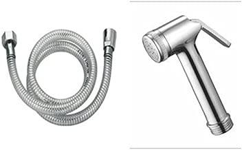 StylEra NANO BRASS HEALTH FAUCET JET SPRAY TOILET SPRAY SET (with PVC Tube and ABS Wall Hook) (1 Mtr)