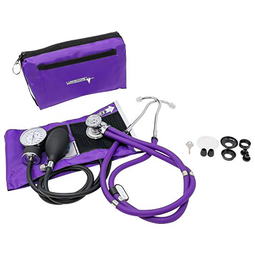 Lumiscope Professional Blood Pressure and Stethoscope Kit, Grape, 100-040GRP