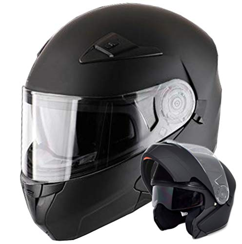 Klapphelm Helm Motorradhelm RALLOX 906 Größe XL schwarz matt mit Sonnenblende