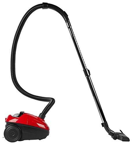 Medion MD 17971 Staubsauger (140W Saugkraft, 5M Kabellänge, Bürsten für unterschiedliche Bodenbeläge, EEK: A) rot