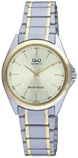 Q&Q Women's Gold Dial Stainless Steel Band Watch - Q118-400Y