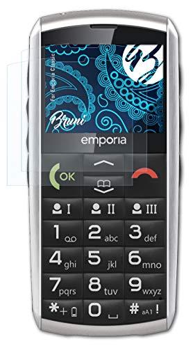 Bruni Schutzfolie kompatibel mit Emporia Classic Folie, glasklare Bildschirmschutzfolie (2X)