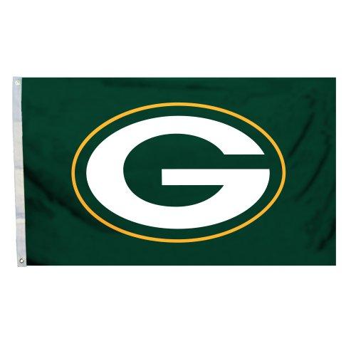 Fremont Die NFL Flagge mit Ösen, 3 x 152 cm, Polyester, Green Bay Packers, 3