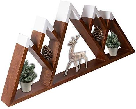 Mountainside Imports Floating Mountain Shelf Large 5 Peaks 28 Inch Sustainable Acacia Wood Rustic product image