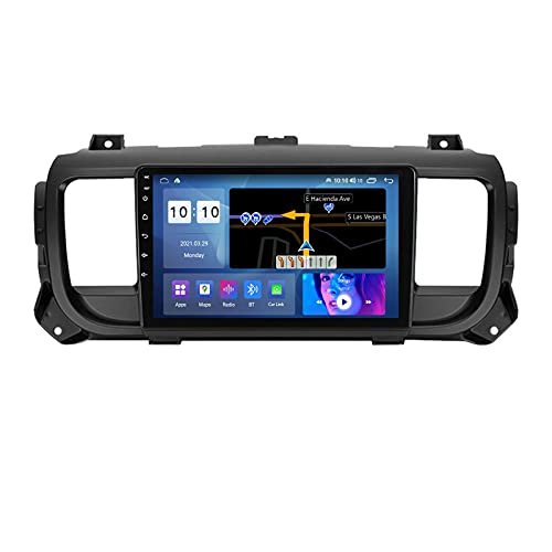 ADMLZQQ Car Radio Android 2 DIN con 9'' Pantalla Táctil GPS-Nav para Citroen Jumpy 2016-2021,Car Estéreo con Carplay/Bluetooth/Control del Volante/Cámara De Respaldo/DSP/Mirror Link/4G LTE/WiFi,M300s