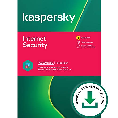 Kaspersky Internet Security 2021 | 3 Devices | 1 Year | Antivirus and...