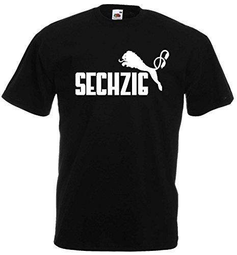1860 Herren T-Shirt SECHZIG Löwen Shirtschwarz-XXL