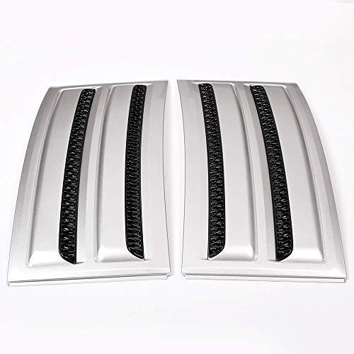 Topauto Top-Auto - Kit de ventilación de Aire para Puerta Lateral de Coche, Color Plateado Mate y Negro