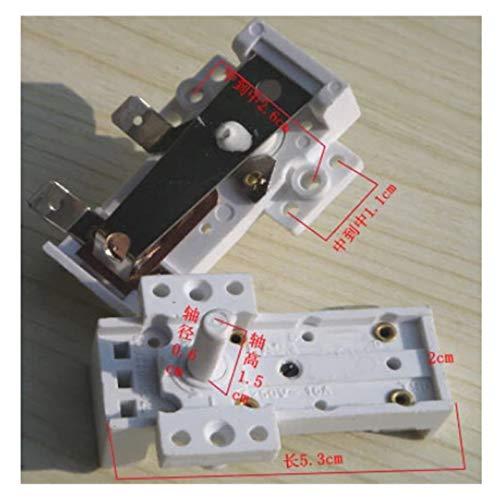 XIAOFANG Piezas de Calentador de Aceite Raditador de Aceite Termostato Control de Temperatura Interruptor de plástico T90 250V 16A KST-401