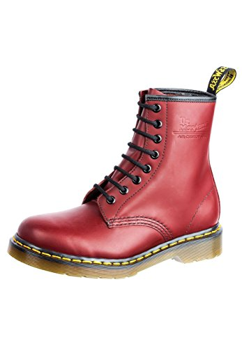 Dr. Martens, 1460 Original 8-Eye Leather Boot for Men and Women, Cherry Red Smooth, 13 US Women/12 US Men