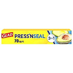 Glad Press'n Seal Plastic Food Wrap - 70 Square Foot Roll (Package May Vary)
