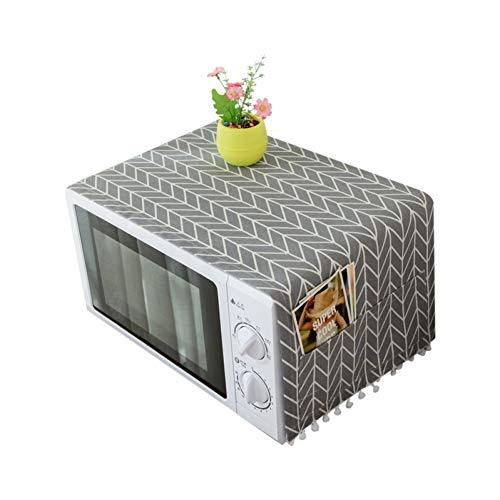 AMOYER 1CP Hotte Micro-Ondes poussière Couvercle avec Sac de Rangement Accessoires de Cuisine Fournitures Accueil Décoration