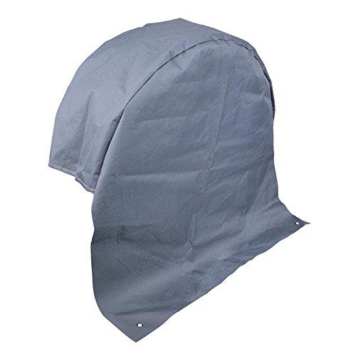 Housse de roue de caravane grise - Protection UV - Tissu polyester avec œillets d'ancrage.