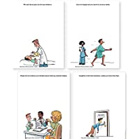 4-Pack Motivation Without Borders Medical Humor Notepads