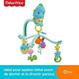 Fisher-Price Hippocampe 3-en-1 Mobile Musical pour Lit Bébé avec 4 hochets Animaux...
