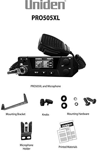 Uniden PRO505XL 40-Channel CB Radio. Pro-Series, Compact Design. Public Address (PA) Function. Instant Emergency Channel… 4
