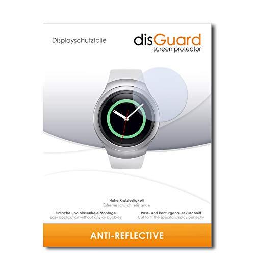 disGuard Displayschutzfolie für Samsung Gear S2 3G [4 Stück] Anti-Reflex, MATT, Entspiegelnd, Extrem Kratzfest, Anti-Fingerabdruck - Displayschutz, Schutzfolie, Panzerfolie