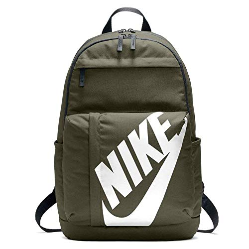 Nike Nk Elmntl Bkpk, Mochila Unisex Adultos, Multicolor (Olive Canvas/Black / W), 15x24x45 cm (W x H x L)