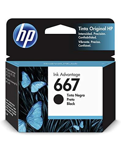 HP Cartucho de Tinta 667 Negro Original (3YM79AL)