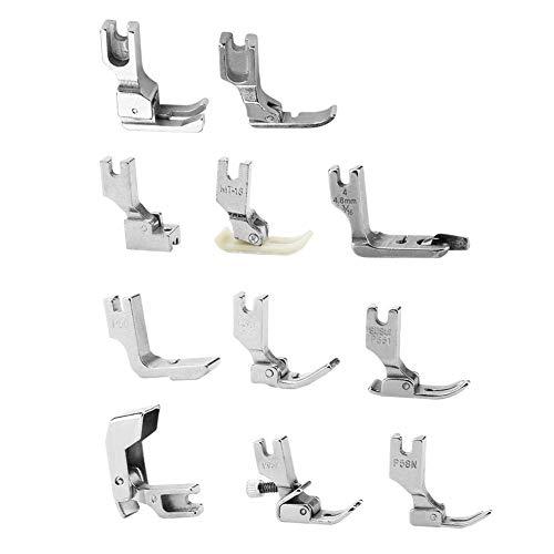 HEEPDD Juego de prensatelas de 11 Piezas, máquina de Coser Profesional para pies de máquina de Coser prensatelas multifunción Juego Completo de pies prensatelas para Trabajos de Costura