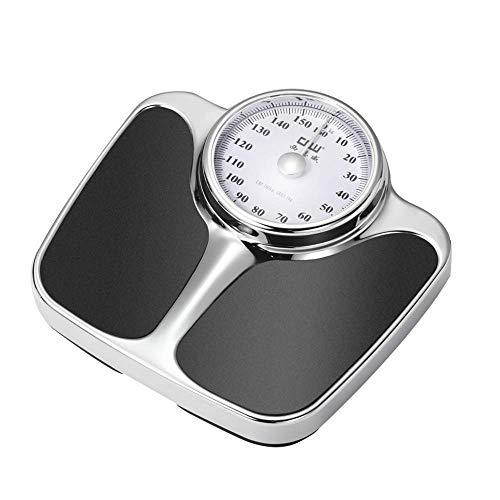 Gaxqfei Keukenweegschaal, mechanisch, nauwkeurig, compact, gemakkelijk af te lezen, groot nummer (160 kg), analoge weegschaal zonder knoppen / zonder batterij