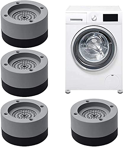 4 Stück Waschmaschine Fußpolster, Vibrationsdämpfer,Antivibrationsmatte waschmaschinenunterlage für Waschmaschinen & Trockner Tables, chairs, etc.(Geben Sie 4 Stück Fixierkleber frei)
