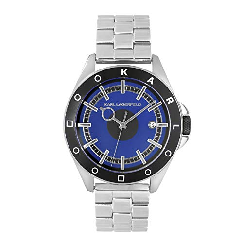KARL LAGERFELD Men\'s S/S & GM Blue Color Block Bracelet Herrenuhr, 42mm, Quarz - 5552767