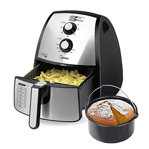 Fritadeira Sem Óleo Elétrica Midea Family Air Fryer Premium Inox 4 Litros (110)