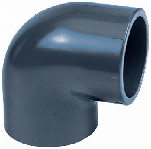 AquaForte PVC 90 ° Angle 110 mm PN 10 Accessoires d'Installation, Gris, 17.0 x 17.0 x 11,0 cm