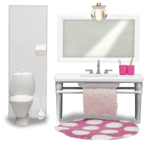 Lundby 60.2049.00 - Smaland: Badezimmer (Puppenhausmöbel)